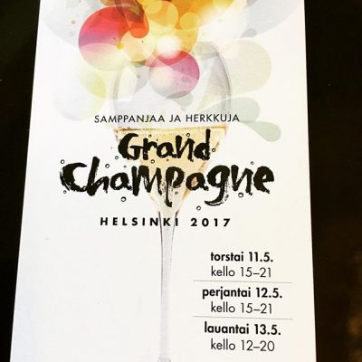 Getting exited! Two more hours and we will release the program of Grand Champagne Helsinki 2017!